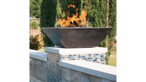Copper square fire bowl