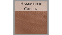 Hammered copper finish