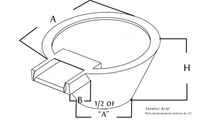 Round fire and water bowl diagram