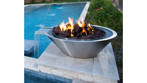 stainless steel round fire and water bowl
