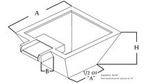 copper square fire and water bowl diagram