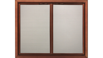 Basic Front Direct Vent Screen with operable doors - shown in optional Copper Fire artisan finish.