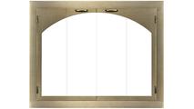 Carolina Arch Conversion Masonry Fireplace Door in Aztec Gold