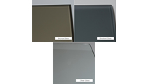 Glass tints available in clear, bronze, or smoked.
