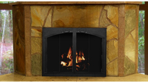 Cascade Arched Conversion Fireplace door - Bifold Doors with Centerbar