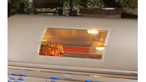 Aurora A660i Built-in Grill shown with magic view window