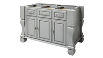 Tuscan Grey Front View of Kitchen Island 53 Inch