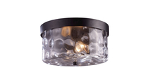 Grand Aisle Outdoor Flush Mount in Weathered Charcoal