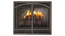 Madrid Direct Vent Screen with operable doors in Classic Bronze