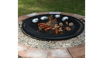 Round x marks fire pit cooking grill grate 40 inch