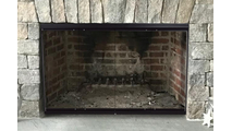 Thin-Line Fireplace Door