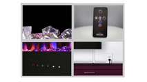 Included accessories with the allure electric fireplace 72 inch