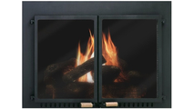 Supreme Air Seal Ceramic Glass Masonry Fireplace Door in Black