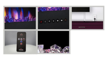 all included accessories with the allure phantom electric fireplace 50 inch