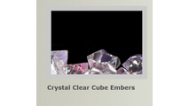 Crystal clear cube embers for Alluravision slimline electric fireplace 50 inch