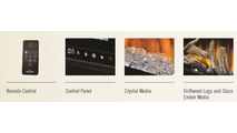 Included accessories with the Alluravision deep depth electric fireplace 50 inch