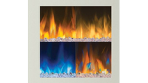 4 different flame color options for the Alluravision electric fireplace 60 inch