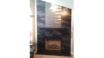 Customer installed steel mantel shelf