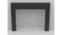 3 Sided Fireplace Surround In Matter Powder Coated Finish