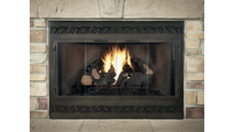 Legend Deluxe ZC Fireplace Refacing with Tuscan louver design