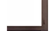 Arched Legend Fireplace Door With Window Pane Design Door Left Corner Detail