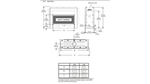 Specs for Acies Series See Thru Direct Vent Gas Fireplace 50 Inch