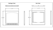 Specs for the Ascent series direct vent gas fireplace 30 inch