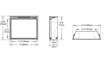 Specs for Ascent Electric fireplace 33 inch