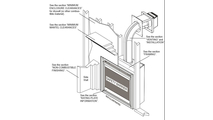 Specs for the Ascent series direct vent gas fireplace 35 inch
