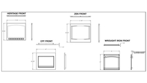 Specs for the Ascent series direct vent gas fireplace 36 inch