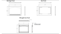 Ascent series direct vent gas fireplace 42 inch specs