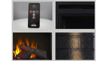 Ascent electric fireplace included accessories