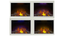 Ascent Electric fireplace back light color options