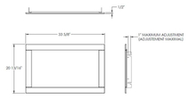 Specs for Ascent Linear Series Direct Vent Gas Fireplace 36 inch