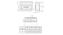 Specs for the Luxuria series direct vent gas fireplace 62 inch