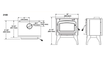 Specs for the Timberwolf economizer small wood stove 2100