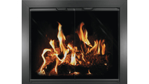Chalet Masonry Fireplace Door in black