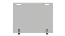Vanguard Single Panel Glass Fireplace Screen with handle cutouts