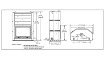 Specs for the High Country Wood Burning Fireplace 8000