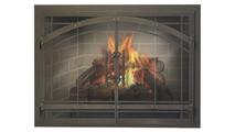 Madrid Zero Clearance Fireplace Door in Classic Bronze