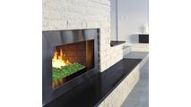 Emerald Fyre Gems in fireplace