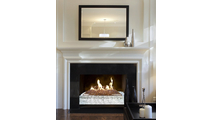 Fyre Glass with Luxury Burner in Fireplace