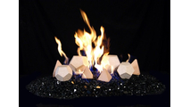 GEO Shapes (Geo Domes and Geo Tetras) with Reflective Black Fyre Glass