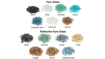 Reflective and nonreflective Fyre Glass options for the Luxury Vented See-Thru Contemporary Gas Set by Real Fyre