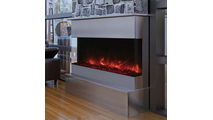 40 Inch TruView XL Deep 3 sided Indoor/Outdoor Electric Indoor Fireplace