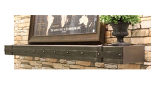 Allegheny Steel Mantel Shelf in Antique Black premium finish