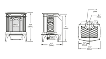 Specs for the Arlington Direct Vent Gas Stove