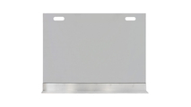 Vanguard Single Panel Fireplace Screen with modern base and handle cutouts