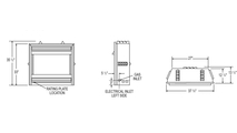 Specs for the Grandville Vent Free Gas Fireplace 36 Inch
