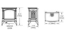 Specs for the Knightsbridge vent free gas stove